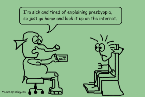Presbyopia Patient Education - Optoblog Comic #17